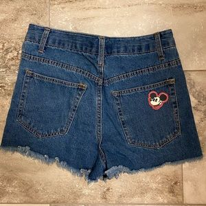 Shorts with small Mickey Mouse detail!
